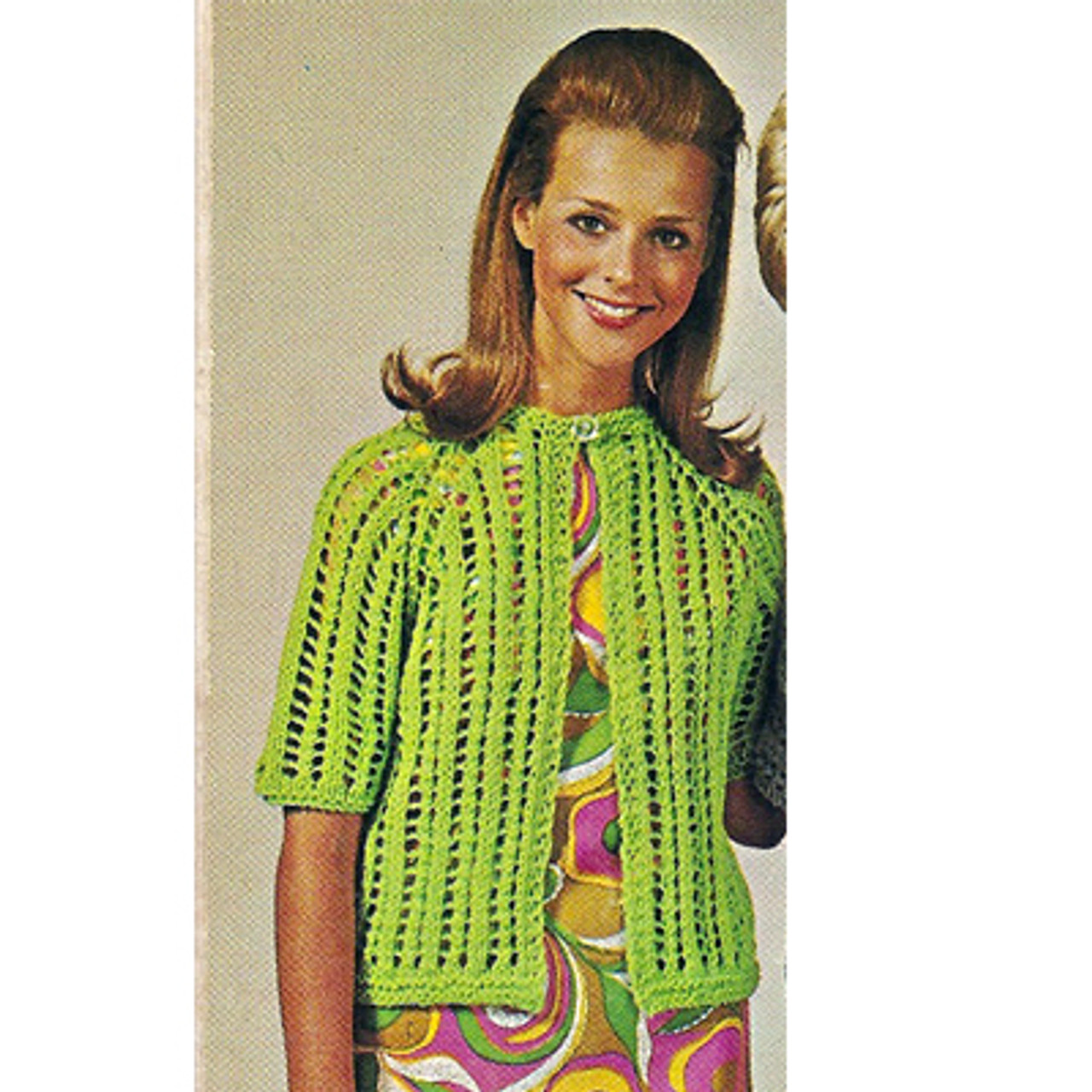 Quick Knit Jacket Pattern, Short sleeves and open front
