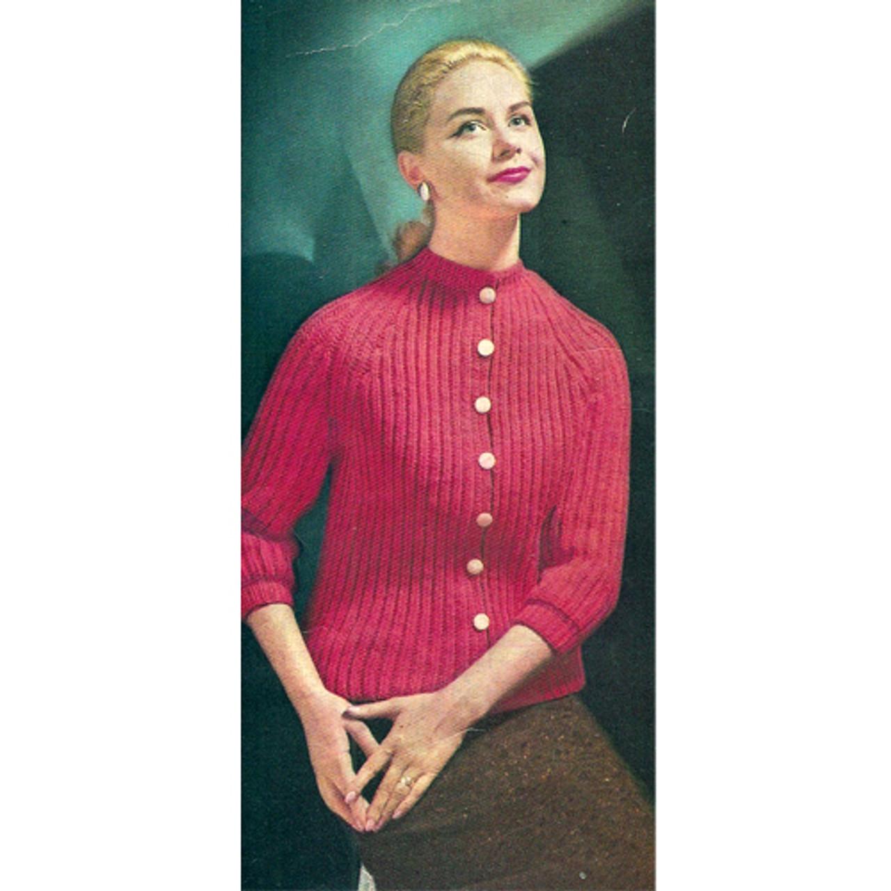 Knitting Pattern Broad Rib Cardigan