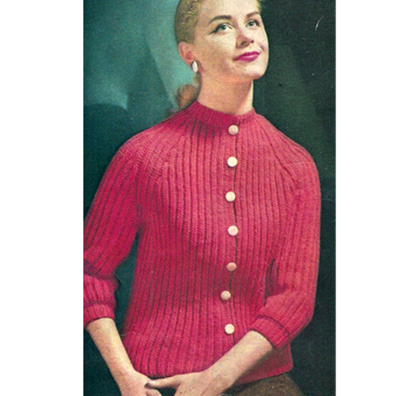 Knitted Broad Rib Cardigan Pattern