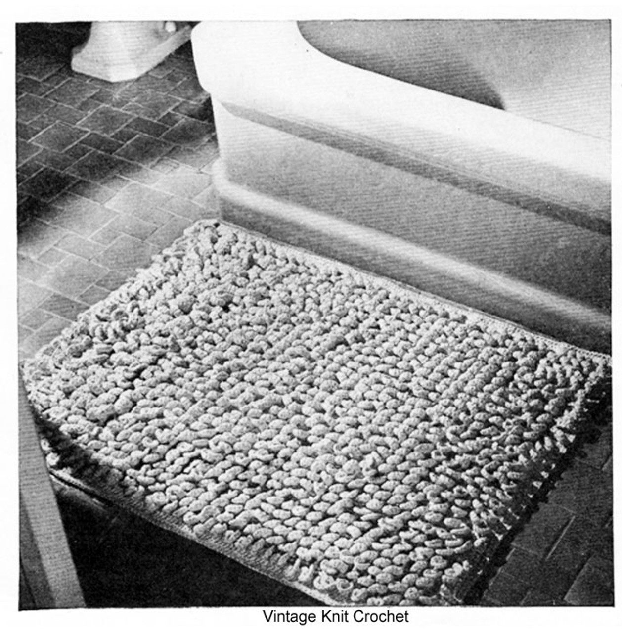 Vintage Bathroom Rug Crochet Pattern No 9400