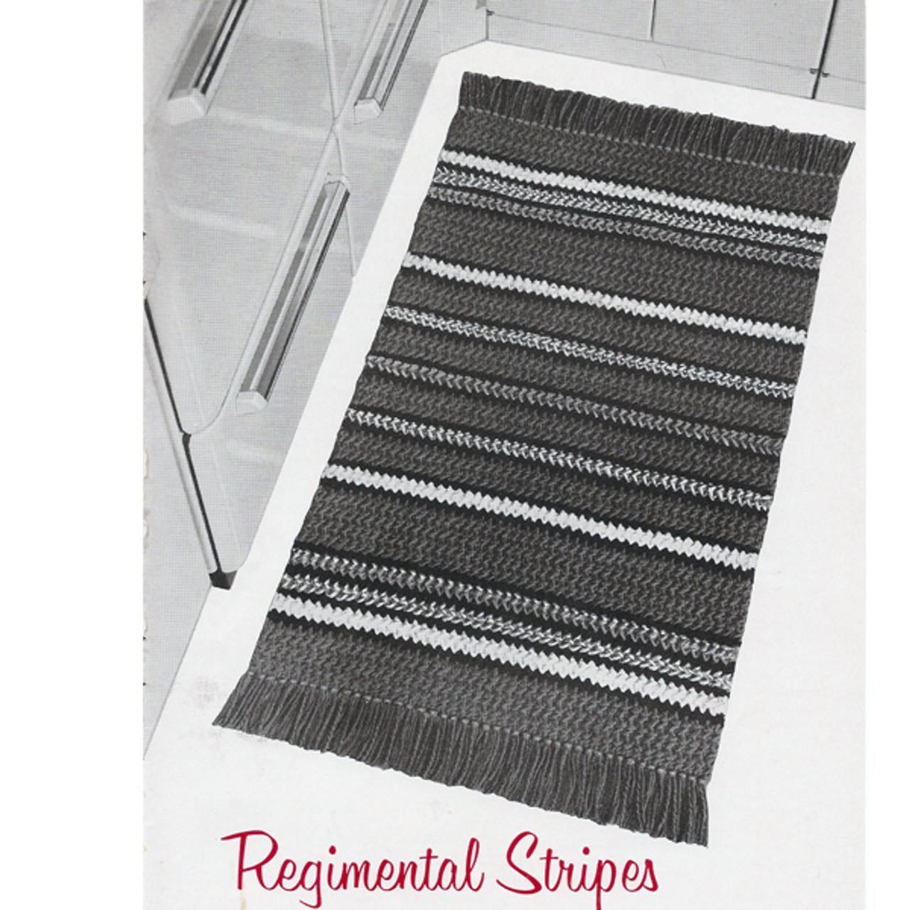 Long Striped Crochet Rug pattern