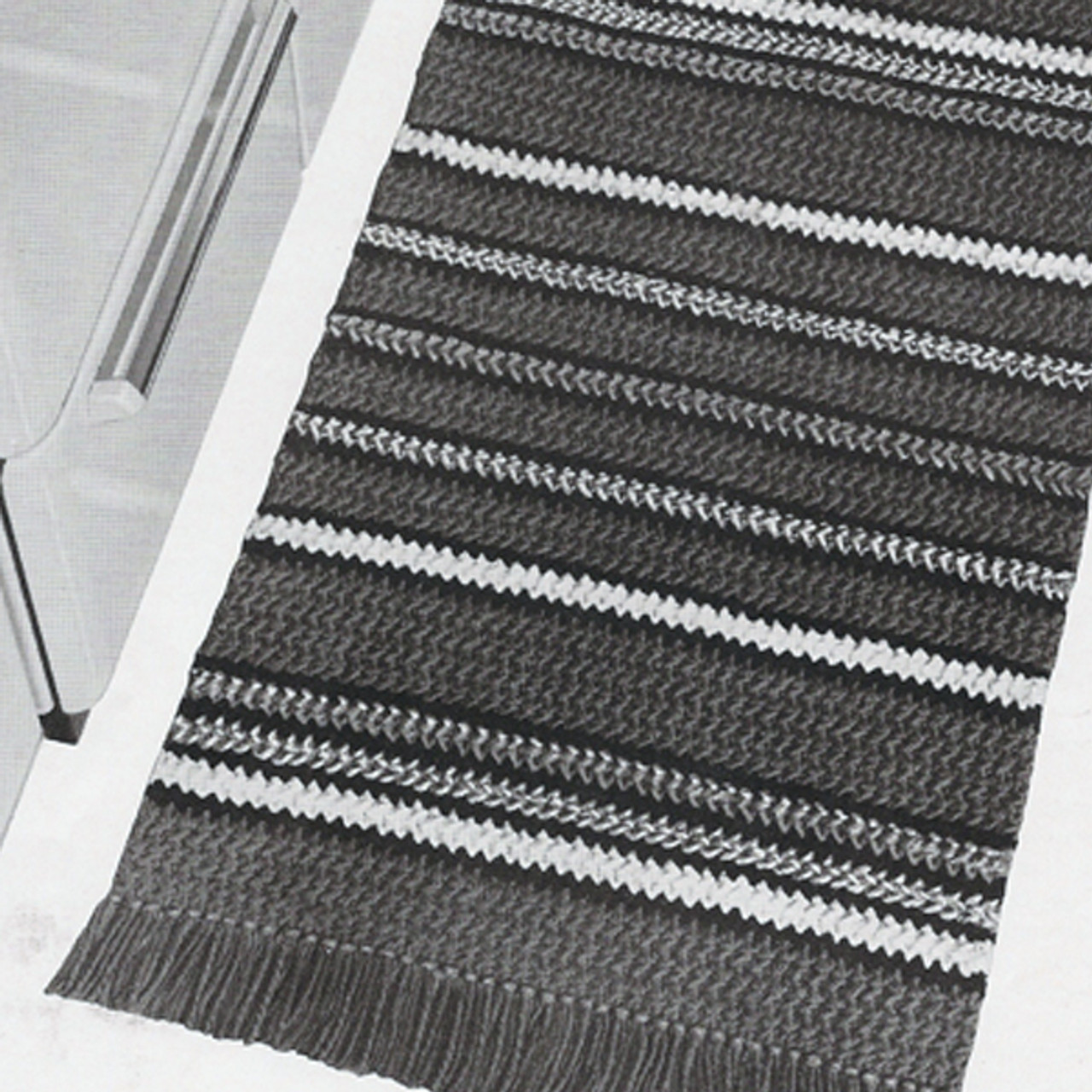 Striped Rug Crochet Pattern from American Thread