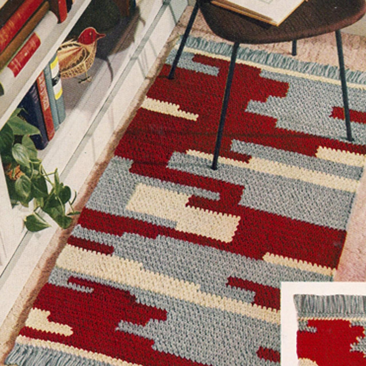 Vintage Indian Motif Rug Crochet pattern