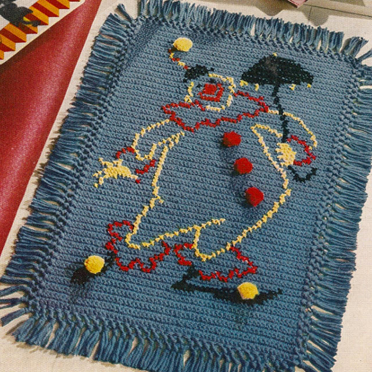 Childs Clown Crochet Rug Pattern