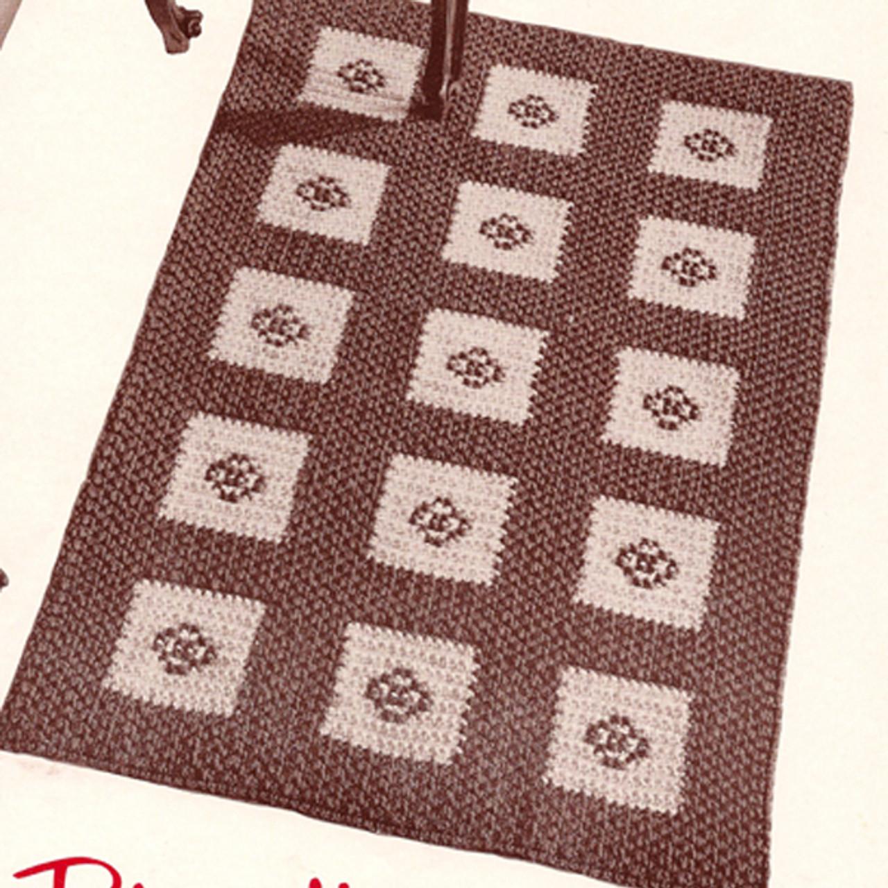 Block Rug Crochet pattern in Flower Motif