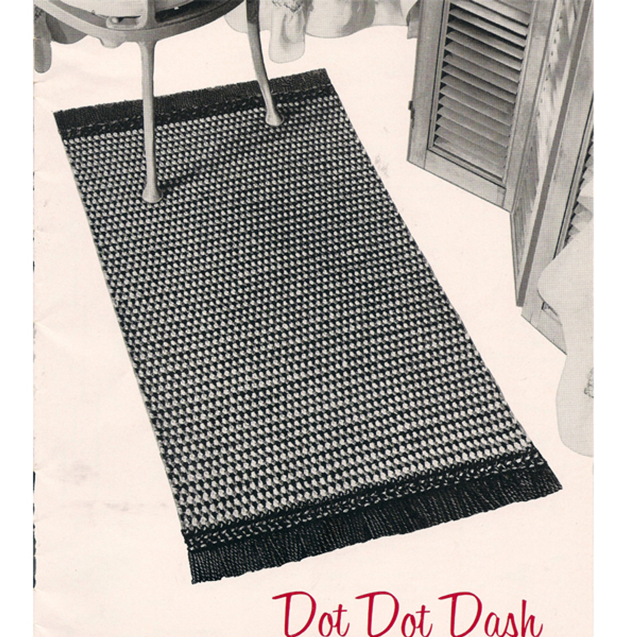 Dotted Crochet Rug Pattern