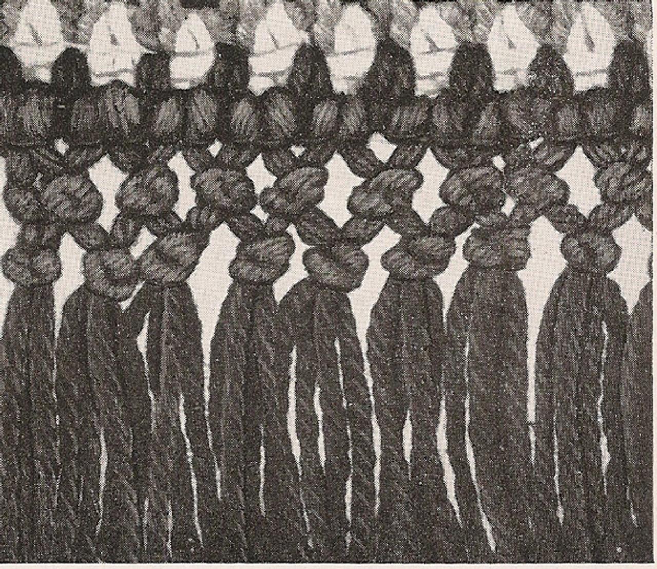 Fringe Detail for Crochet Rug