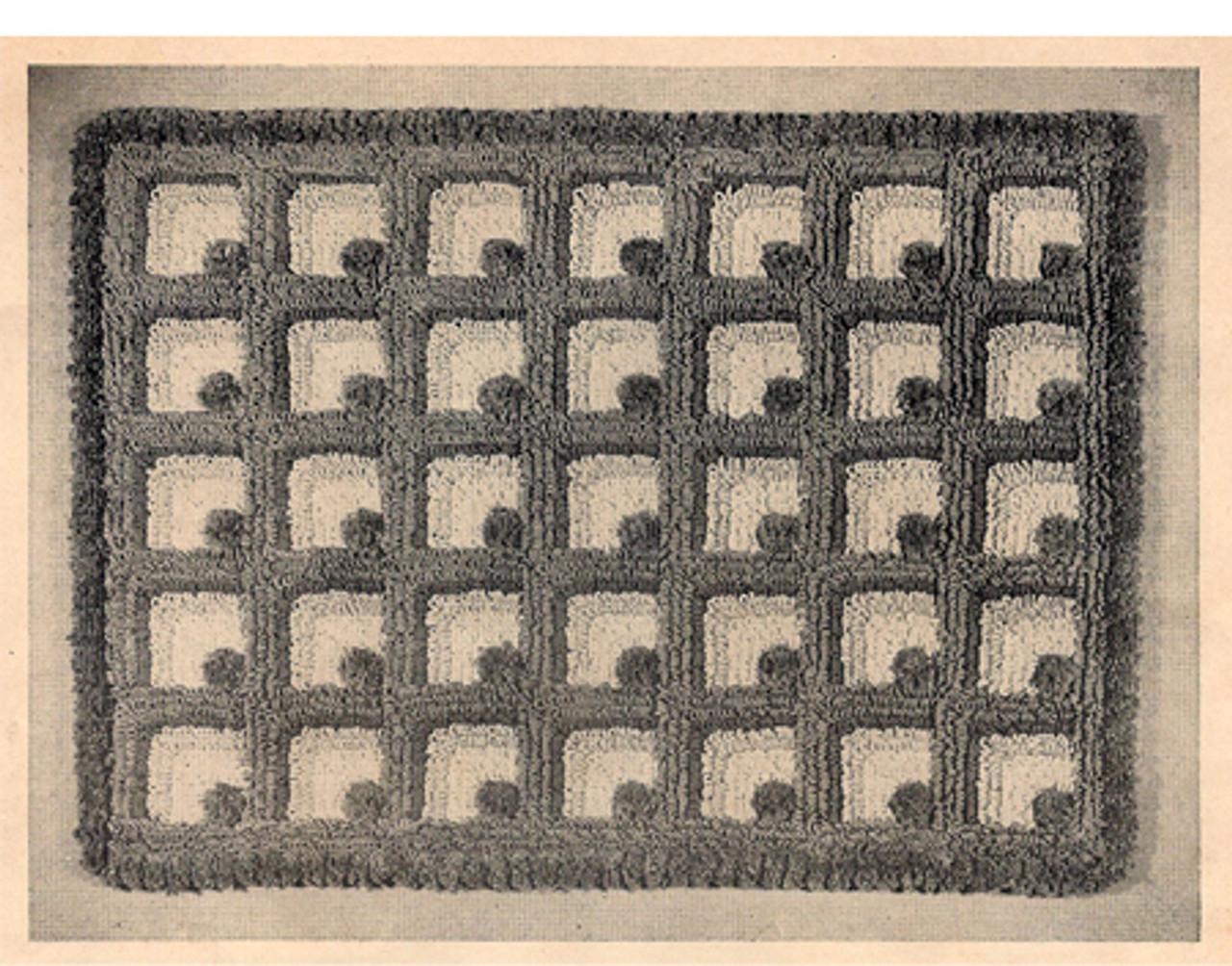 Vintage Area Rug Crochet pattern, Geometric Motif