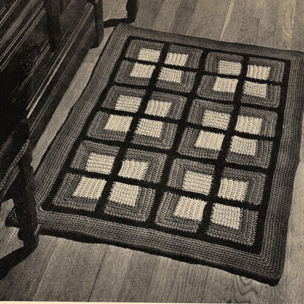 Crocheted Colonial Block Rug pattern