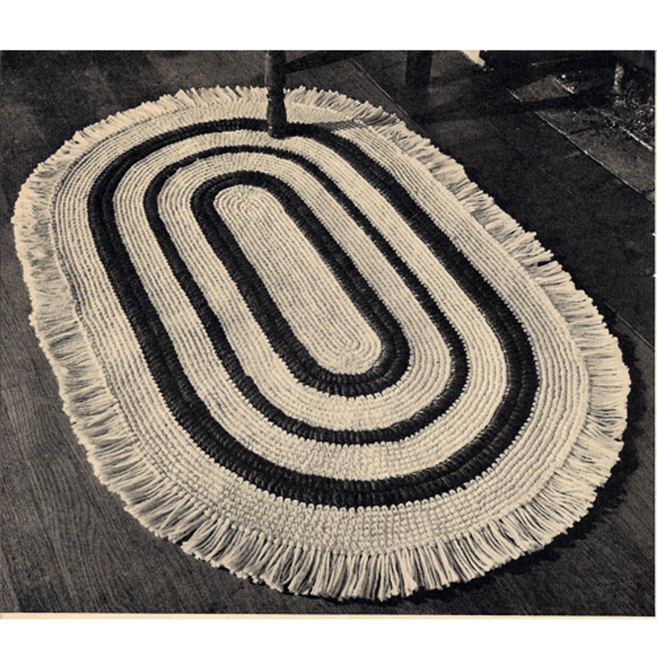 Crochet Americana Oval Rug Pattern