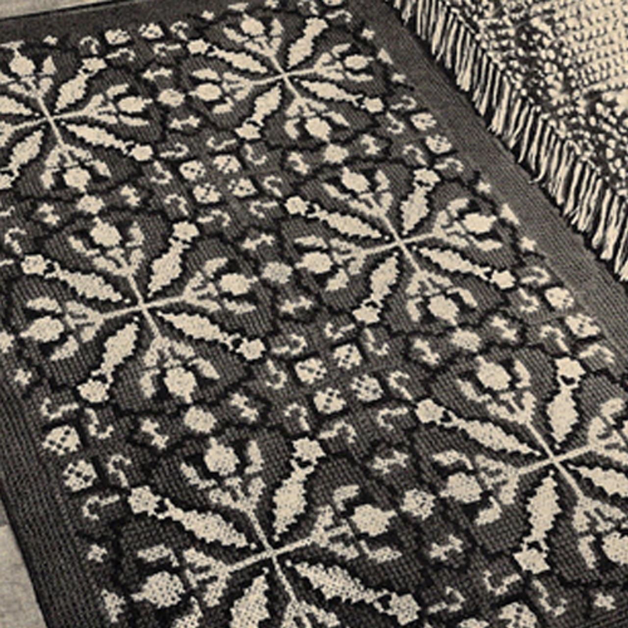 Vintage Tapestry Rug Crochet Pattern