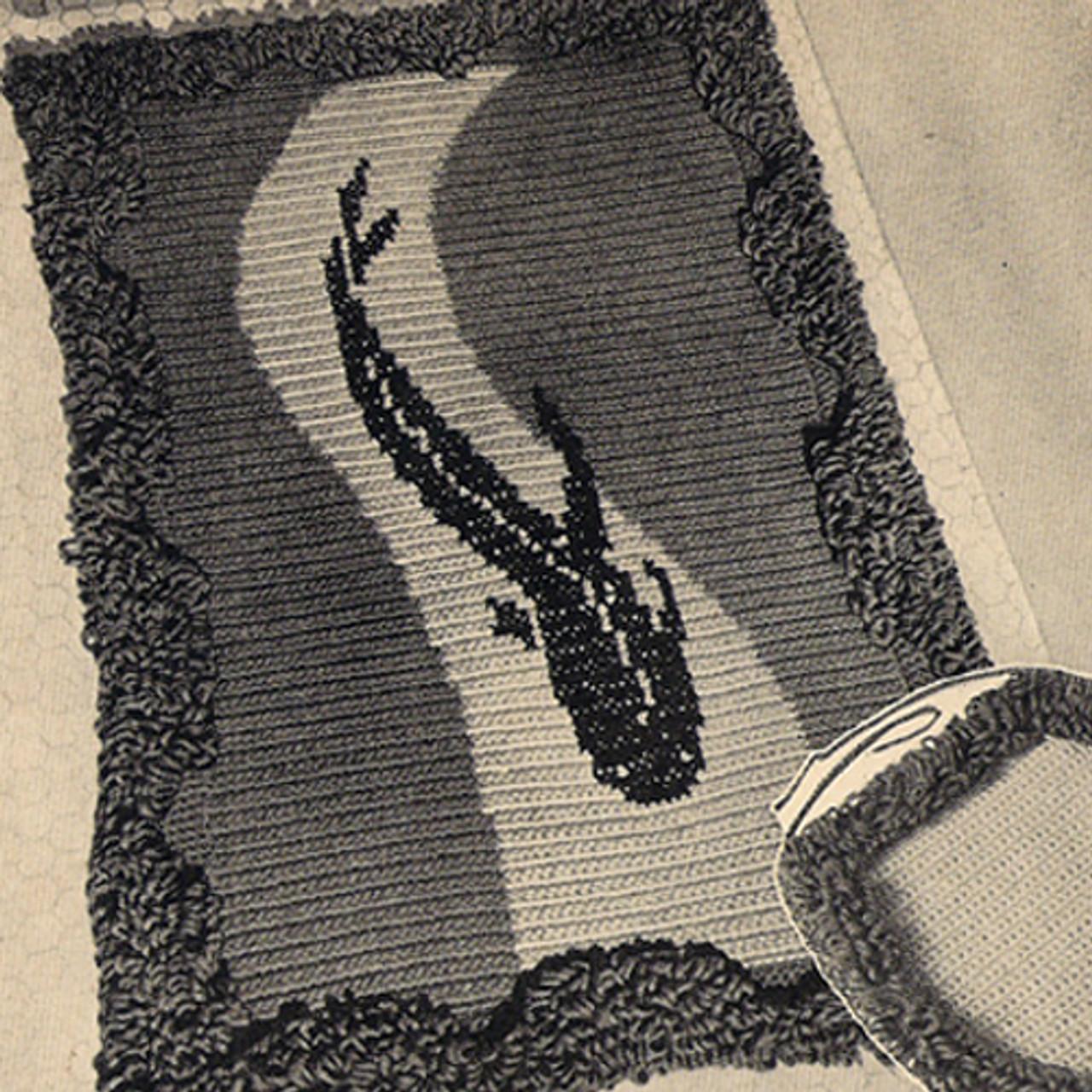 Crocheted Marine Rug Pattern with Fringed Border