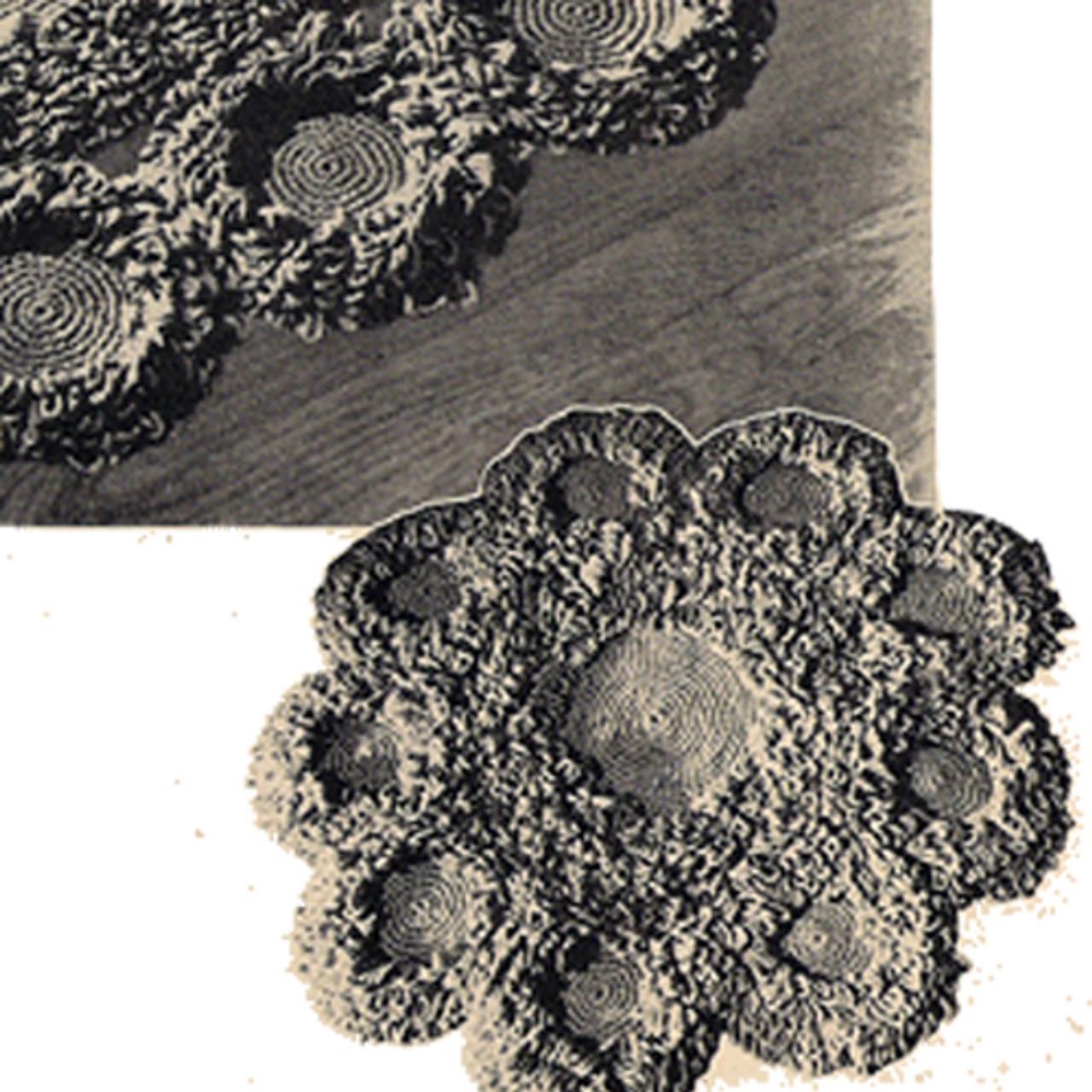 Vintage Tufted Medallion Crochet Rug Pattern
