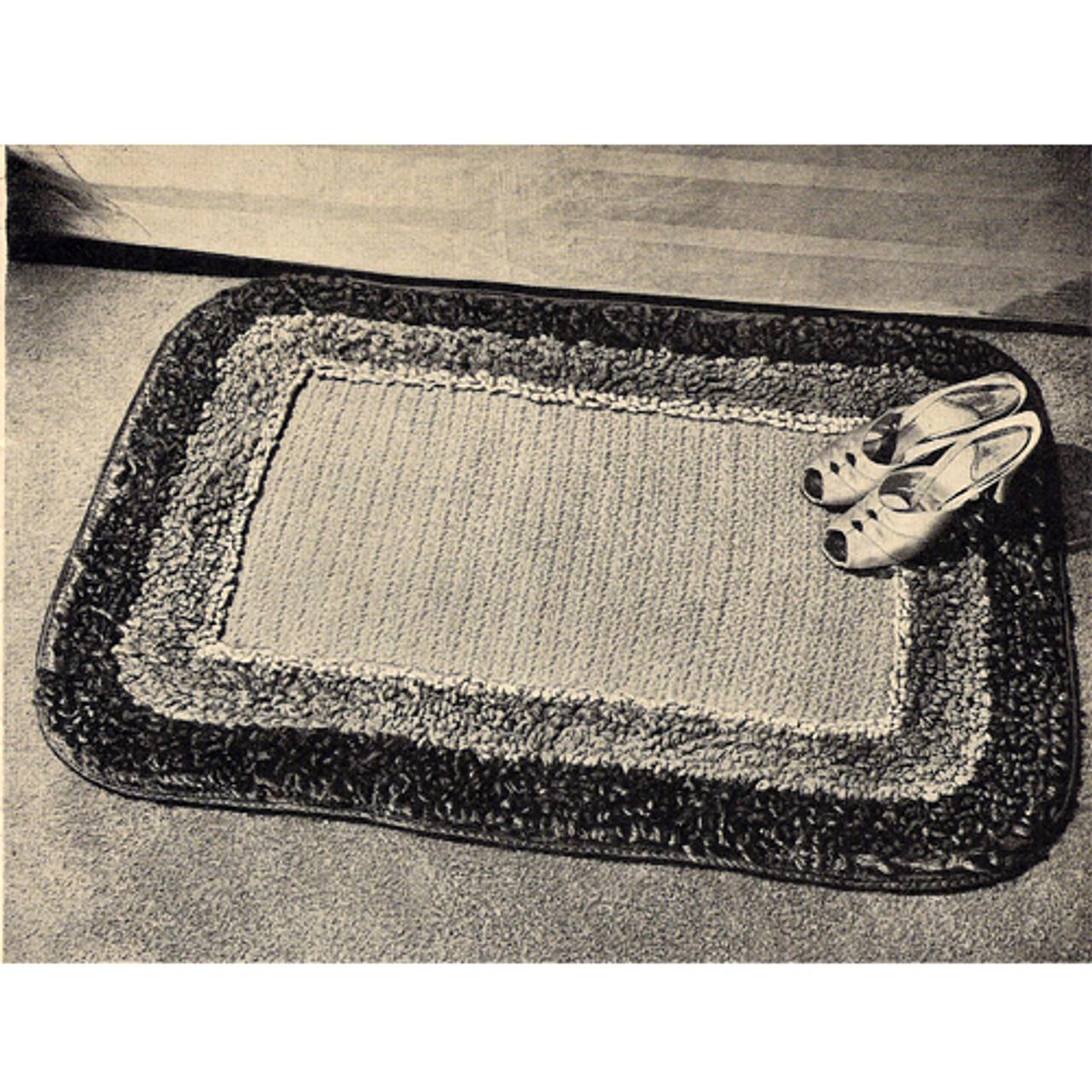 Crochet Rug Pattern with Loop Stitch Border