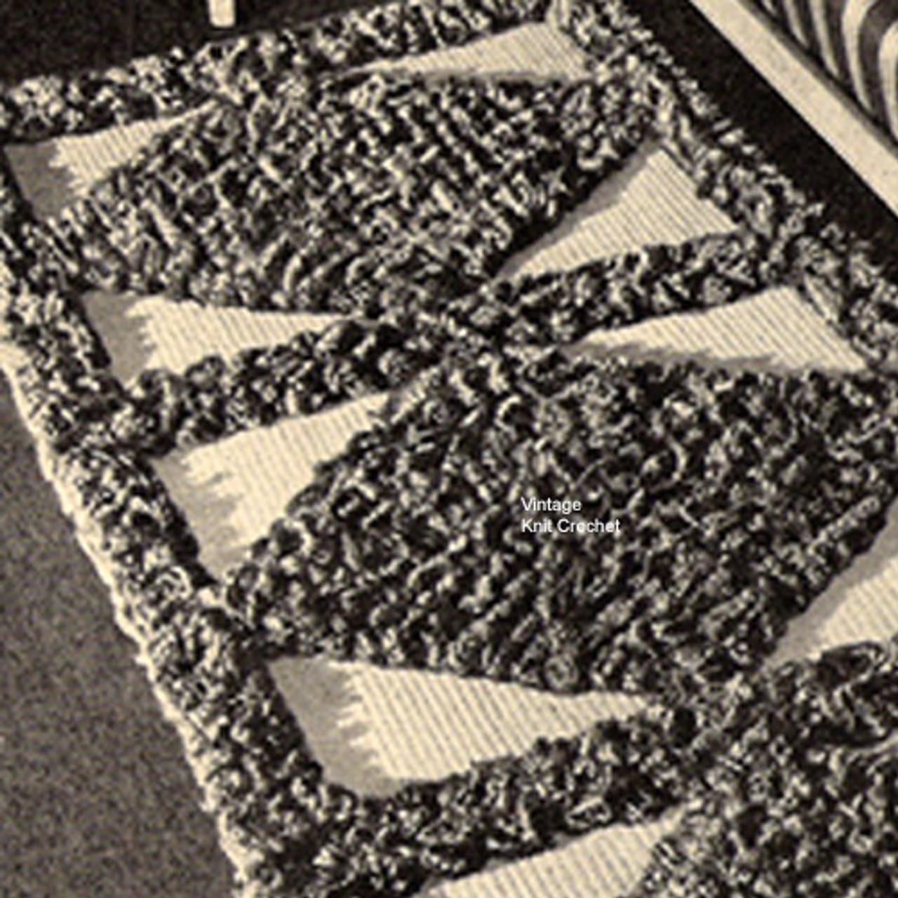 Diamond Crocheted Section Runner Rug Pattern