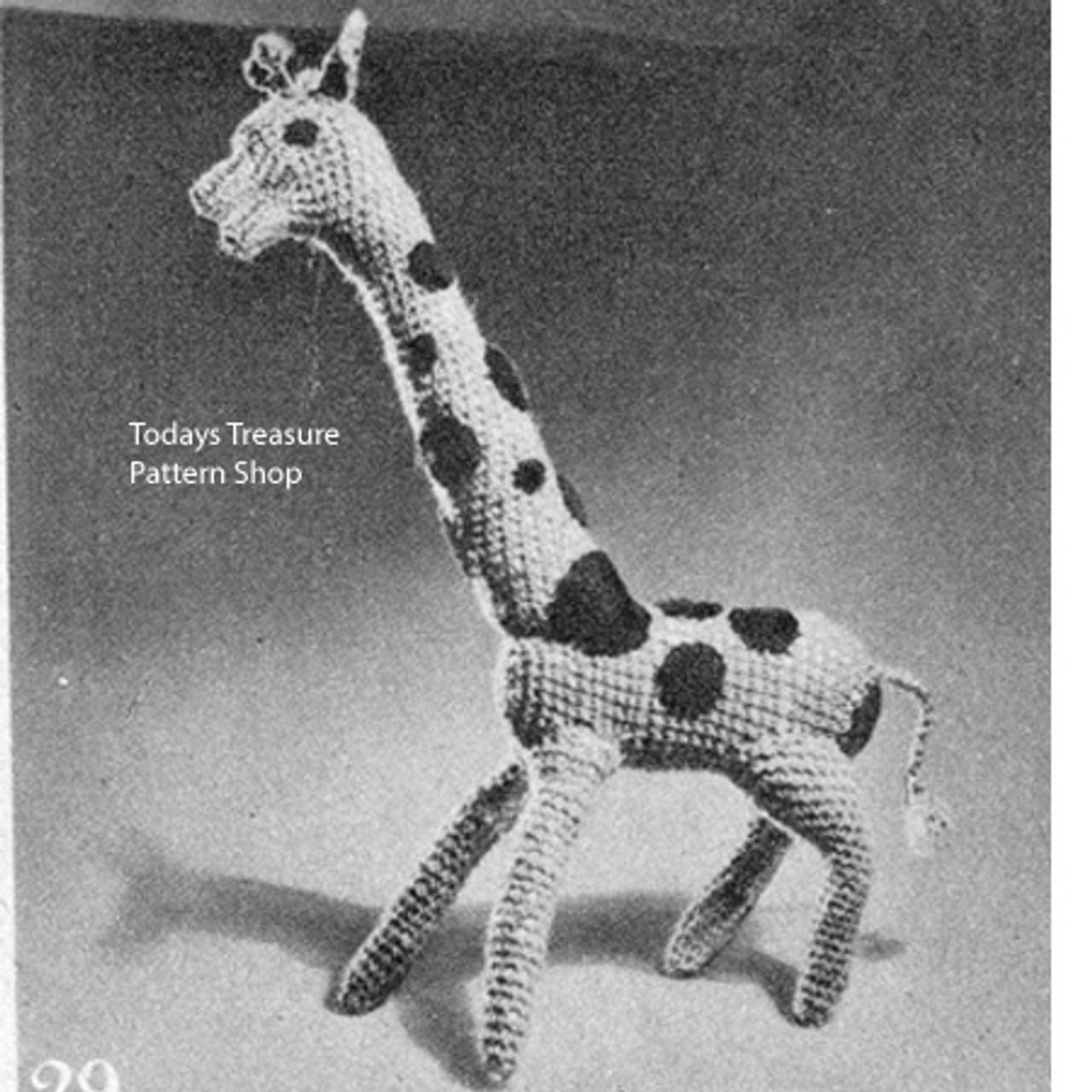 Small Stuffed Giraffe Crochet Pattern