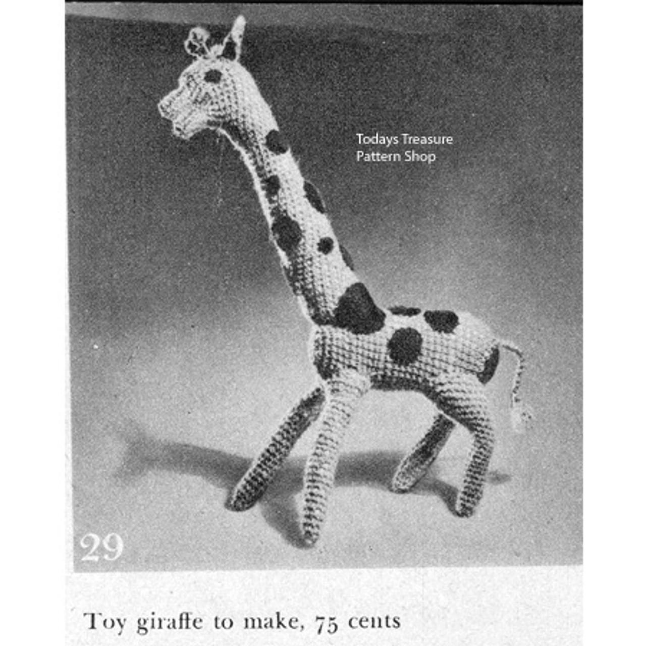 Vintage Toy Giraffe Crochet Pattern