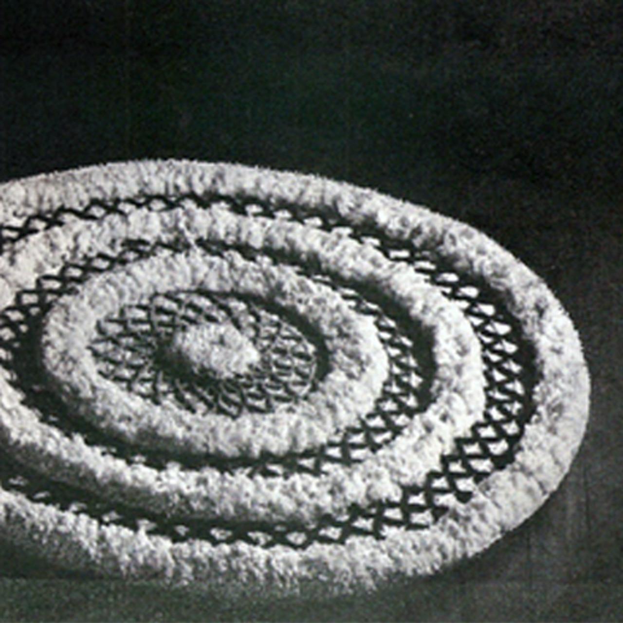 Vintage Round Rug Pattern, Puff Ball