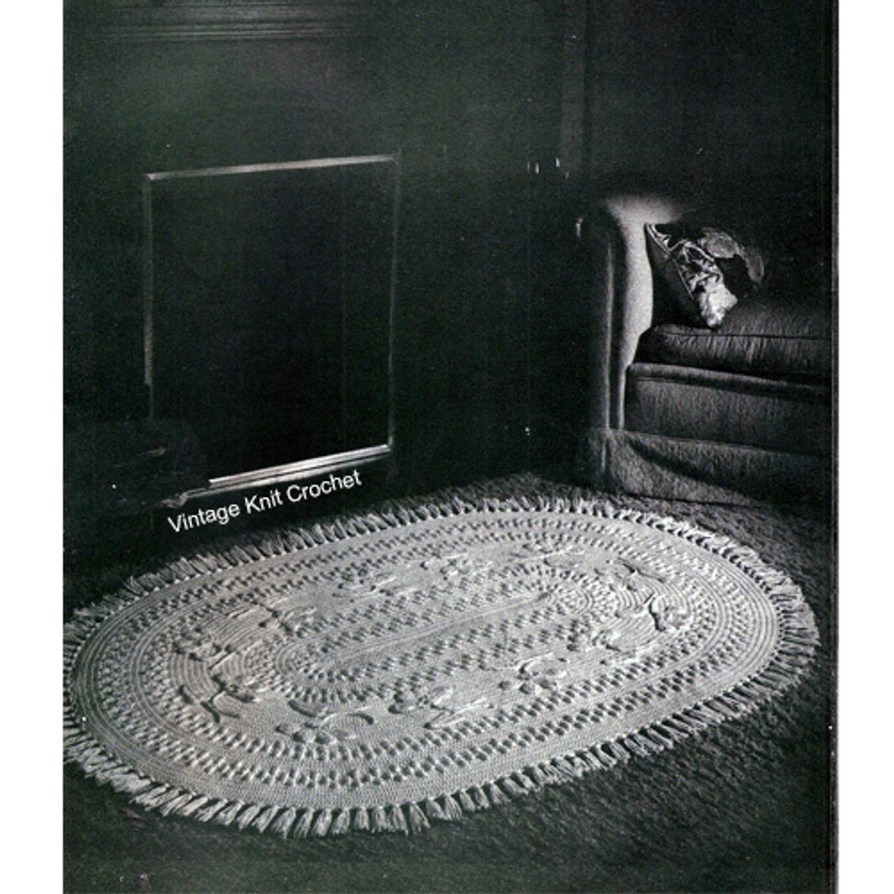 Vintage Oval Crochet Rug pattern