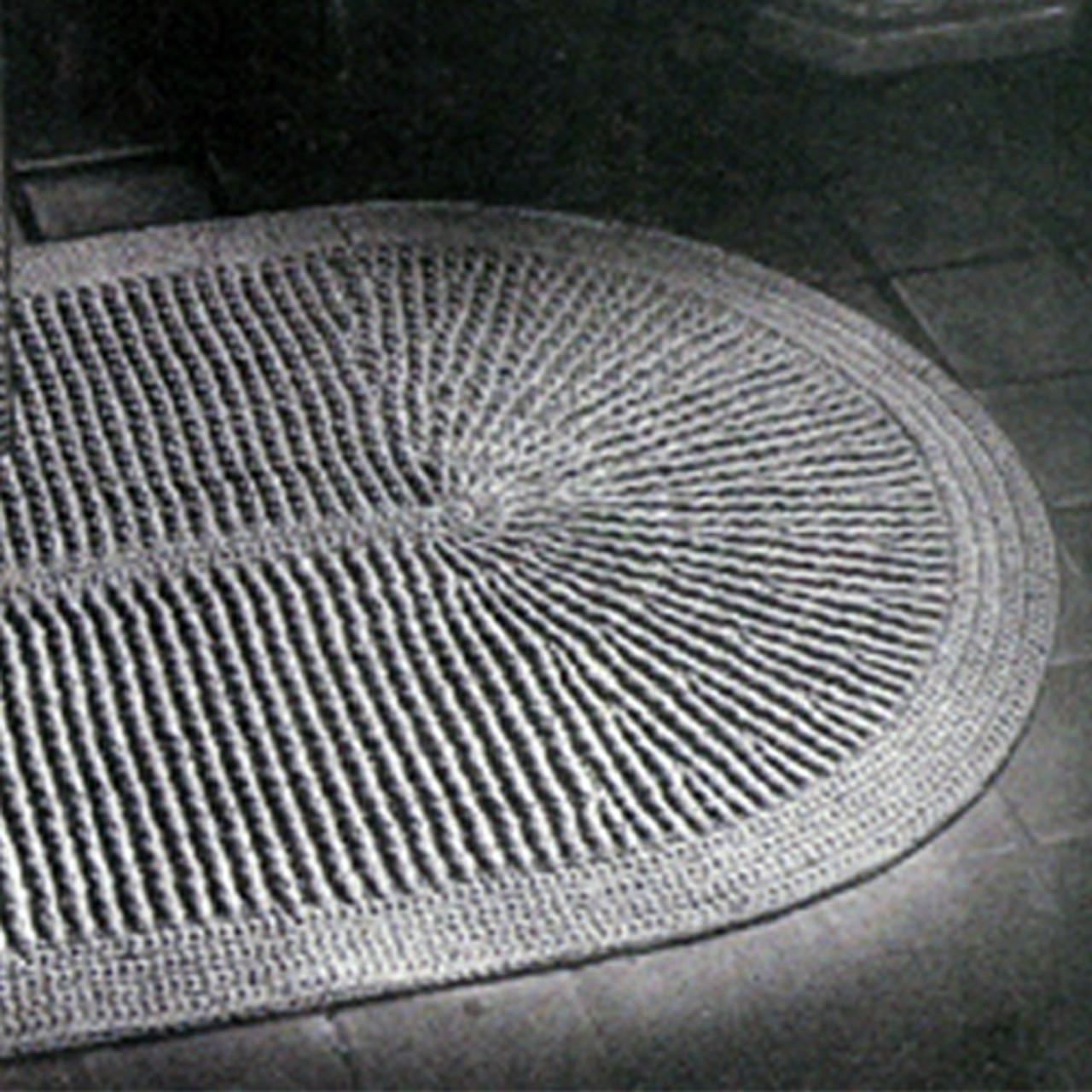 Large Crochet Oval Area Rug Pattern