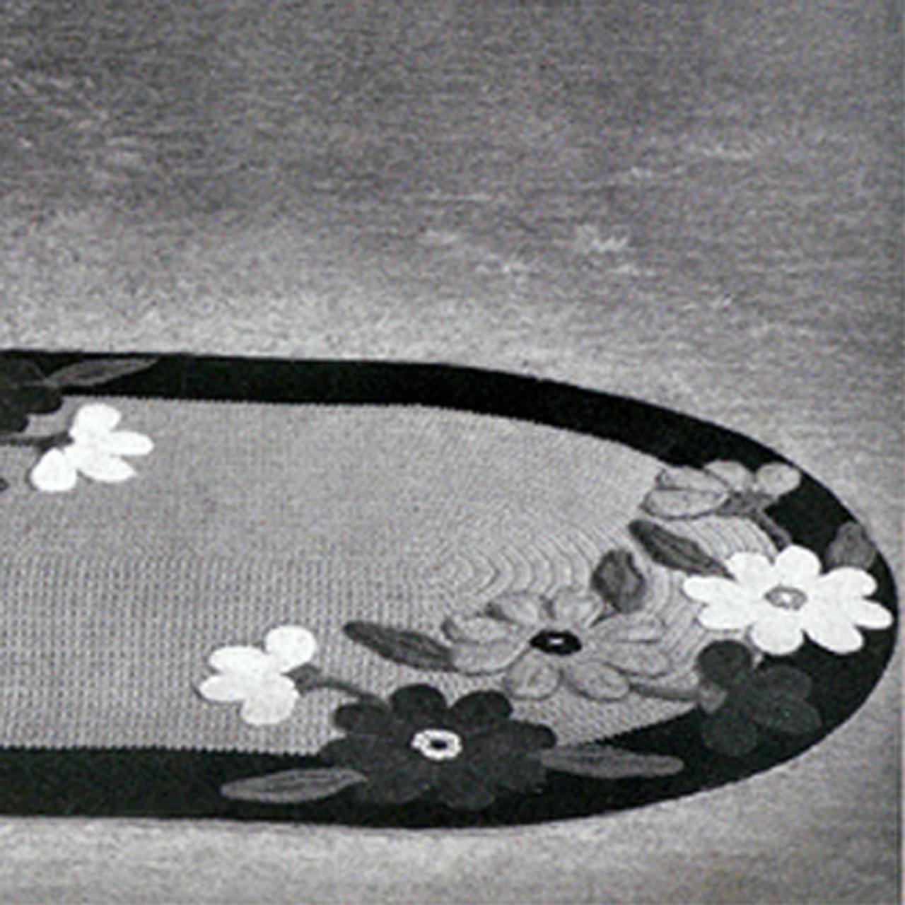 Crochet Area Rug PDF Pattern Flower Motif 24 x 36