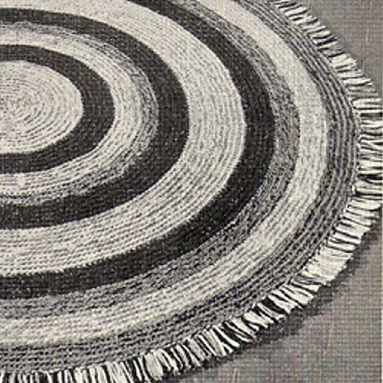 Vintage Three Color Round Rug Crochet pattern