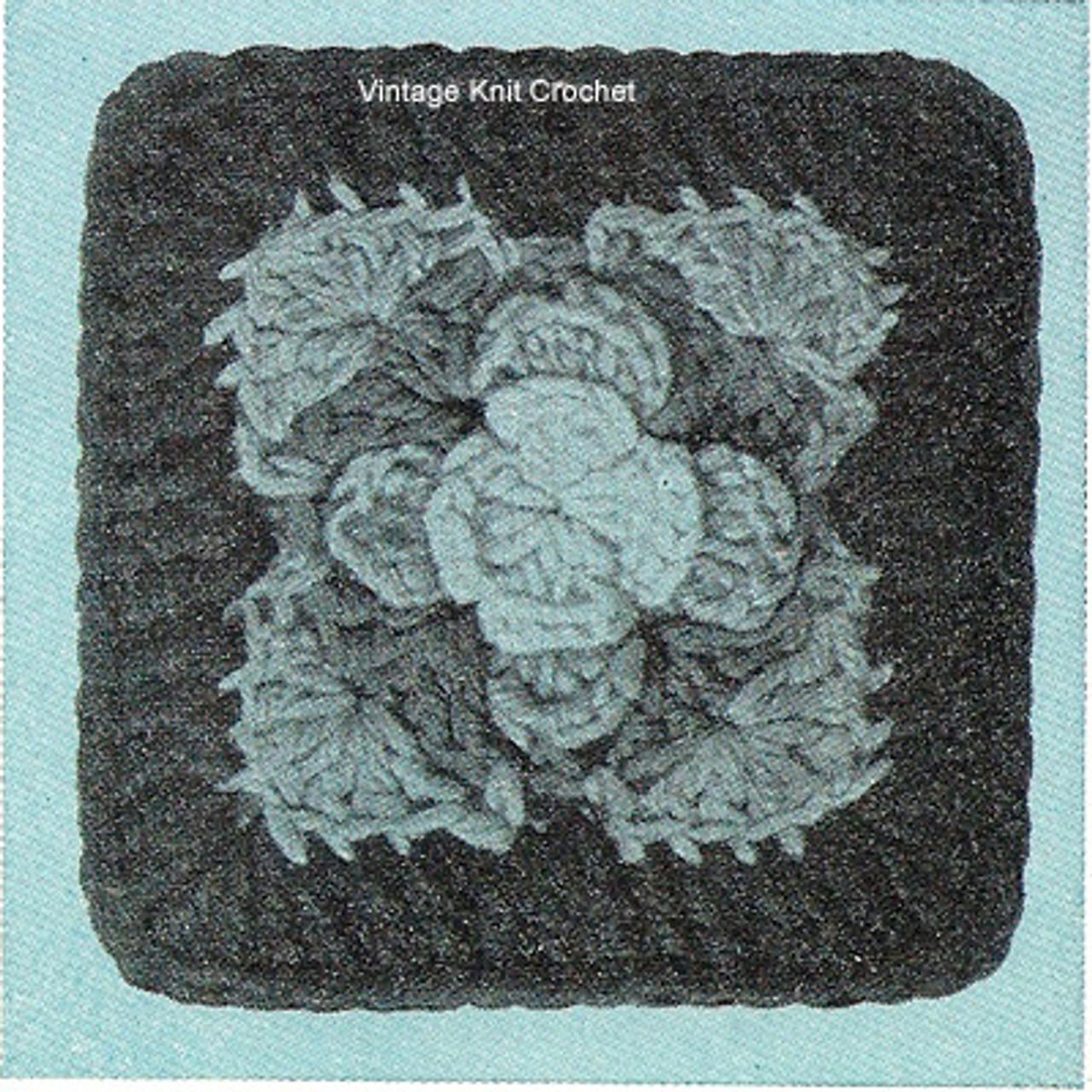 Rose Square Crochet Pattern illustration
