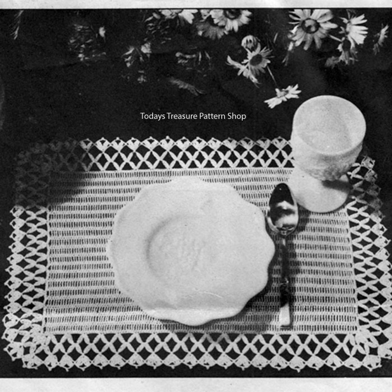 Vintage Lattice Place Mats Crochet Pattern