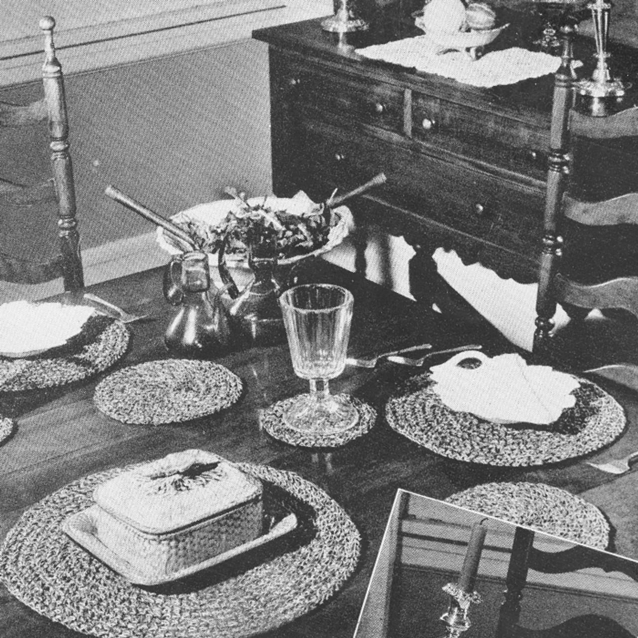 Vintage Round Mats Crochet Pattern