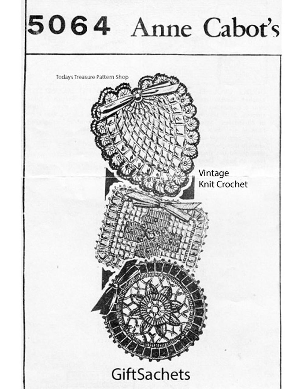 Crochet Heart Sachet Pattern No 5064