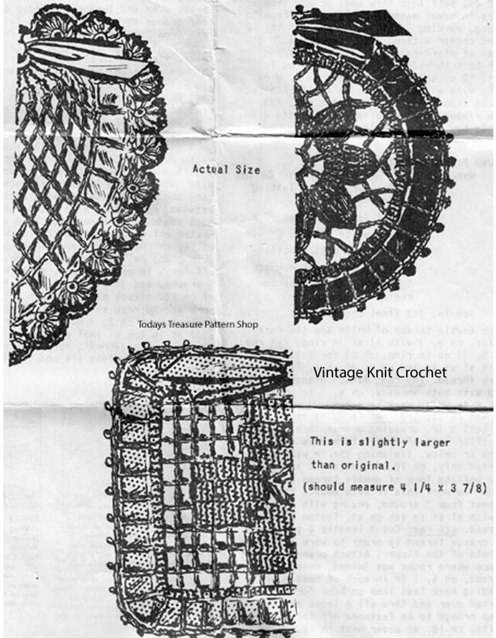 Sachet Crochet Pattern Illustration, Anne Cabot 5064