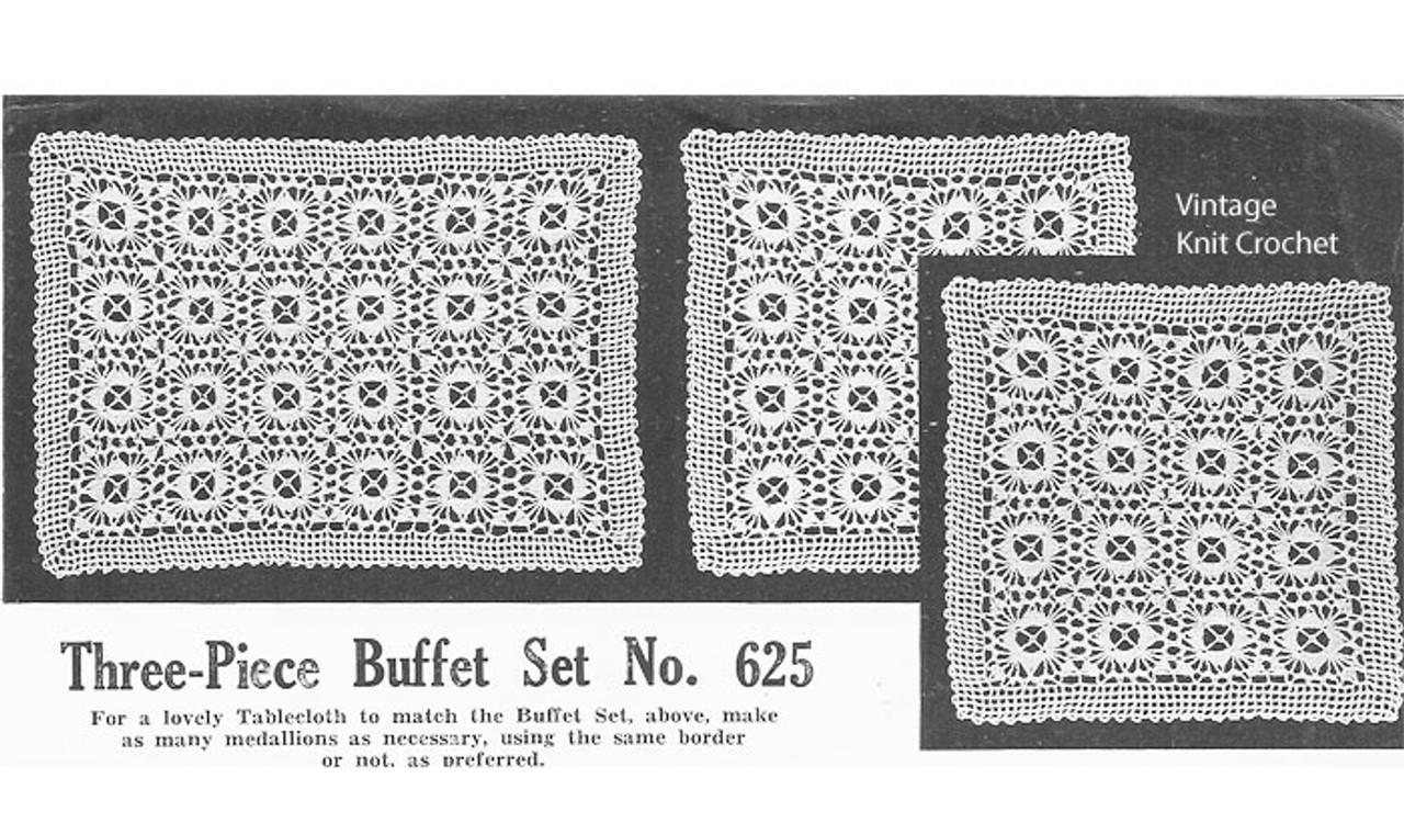 Crochet Luncheon Set Pattern