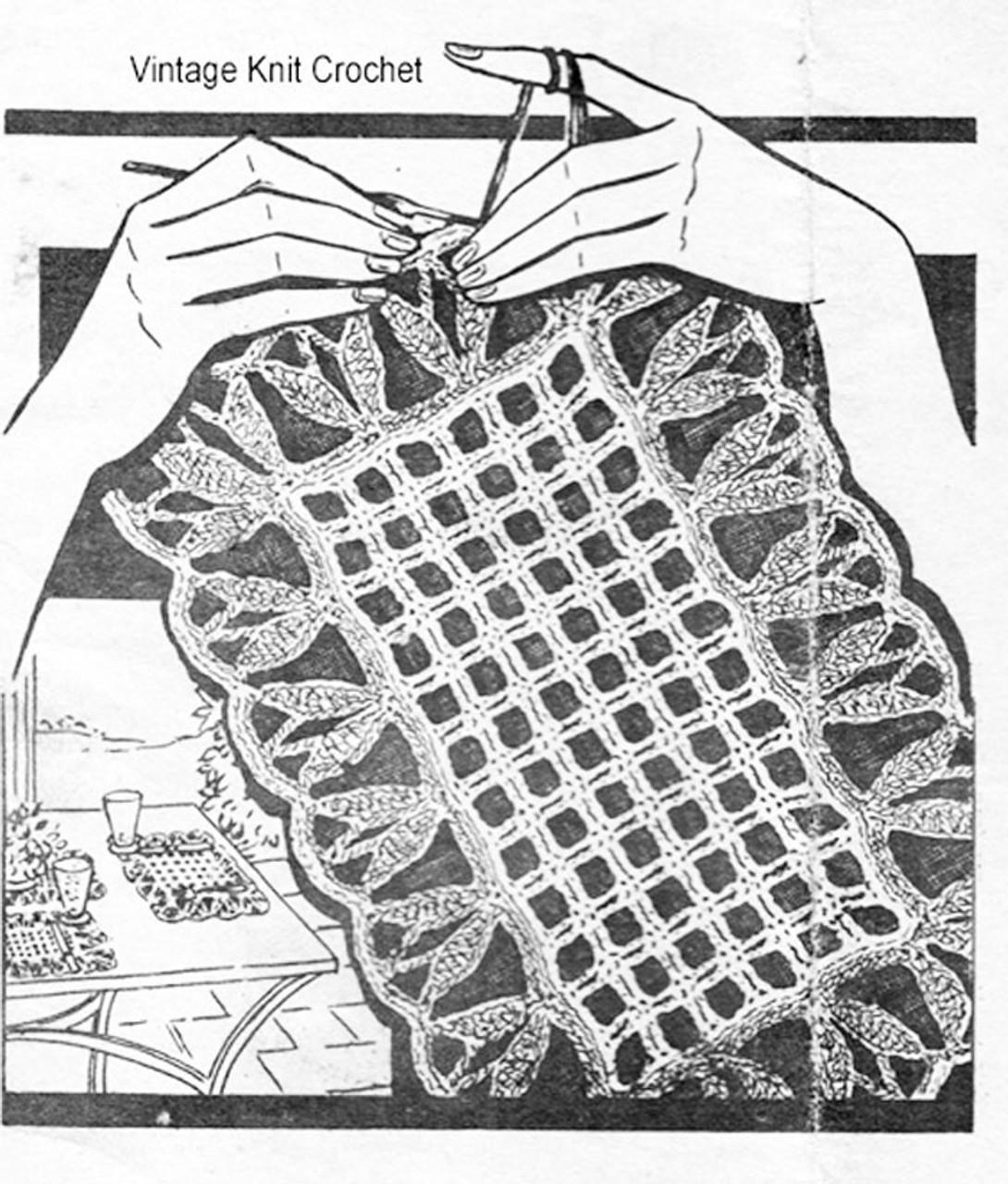Laura Wheeler crochet placemats pattern No 1532