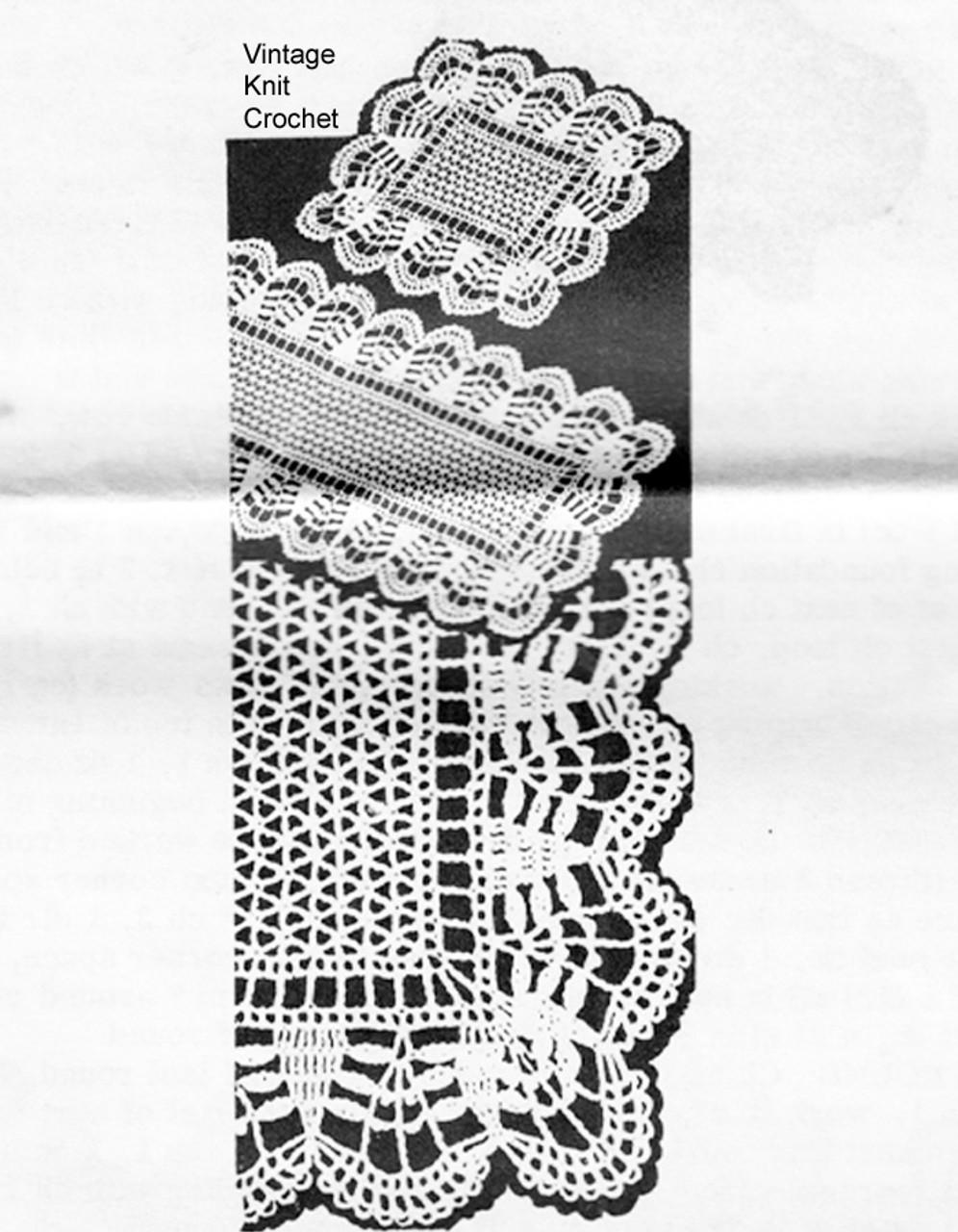 Crochet Luncheon Mats Pattern, laura wheeler 894