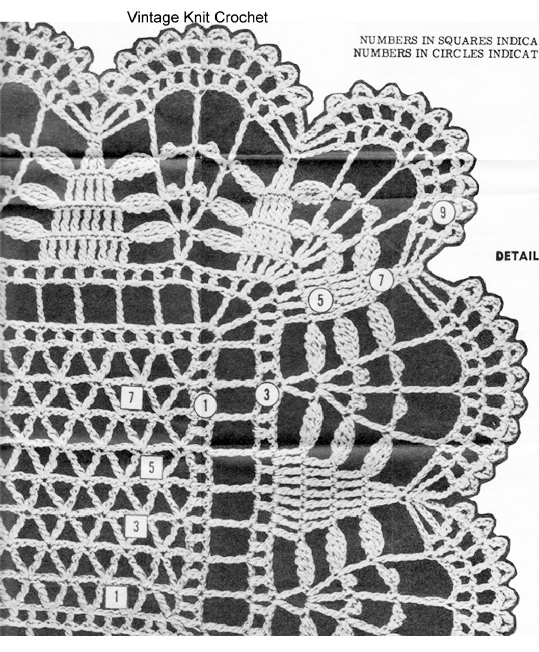 Crochet Runner Pattern Stitch Illustration for Design 894