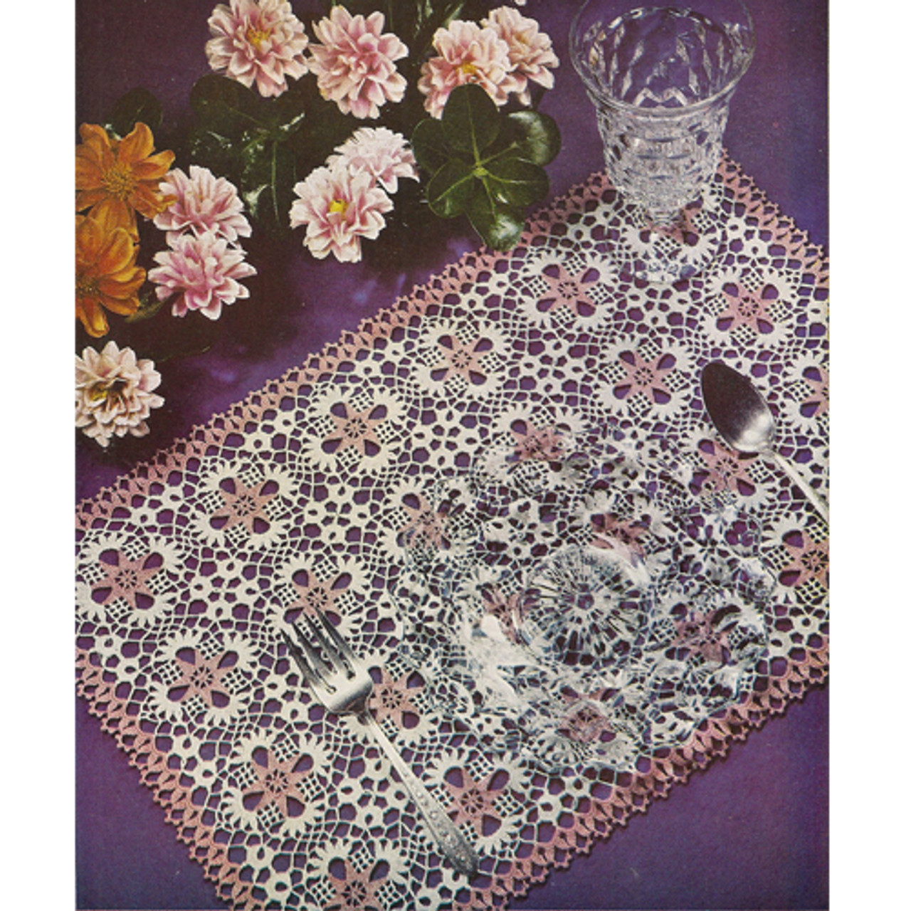 Crocheted Star Medallions Place Mats Pattern