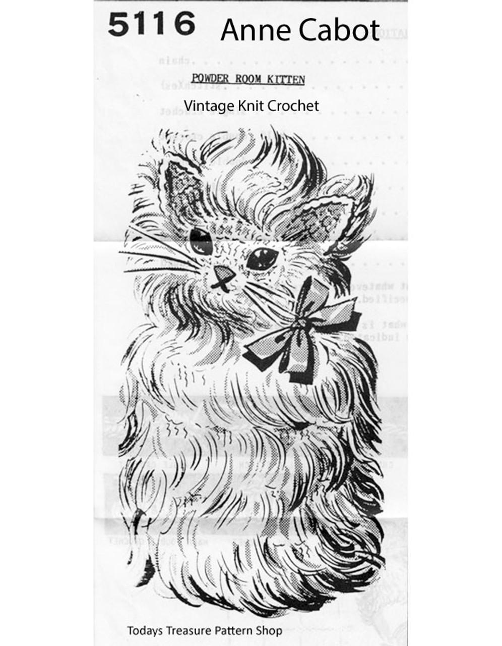 Kitten Tissue Cover Crochet Pattern, Mail Order 5116