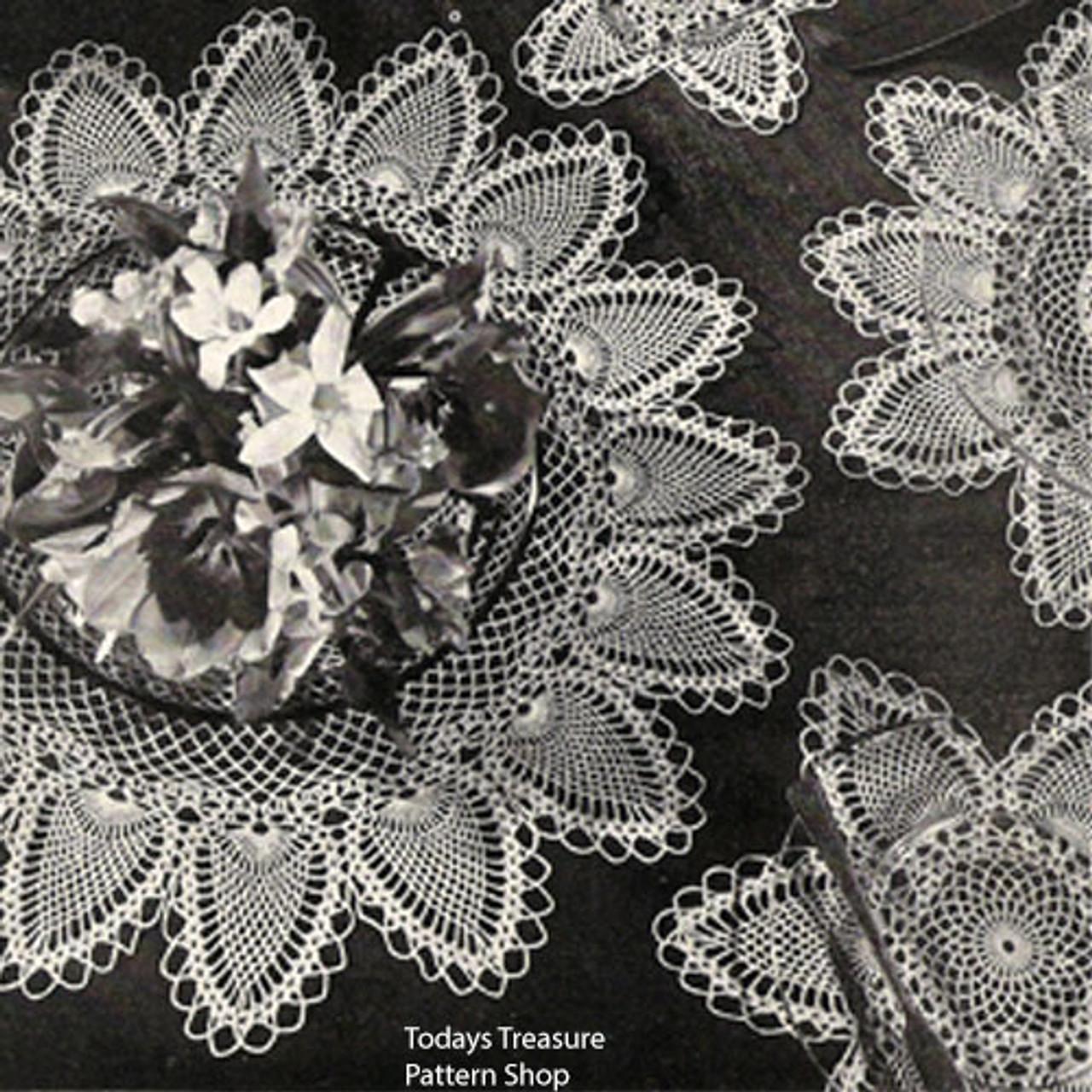 Crocheted Pineapple Doily Mats Pattern