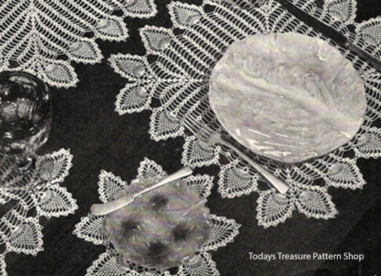 Crochet Table Mats Pattern in Pineapple Motif