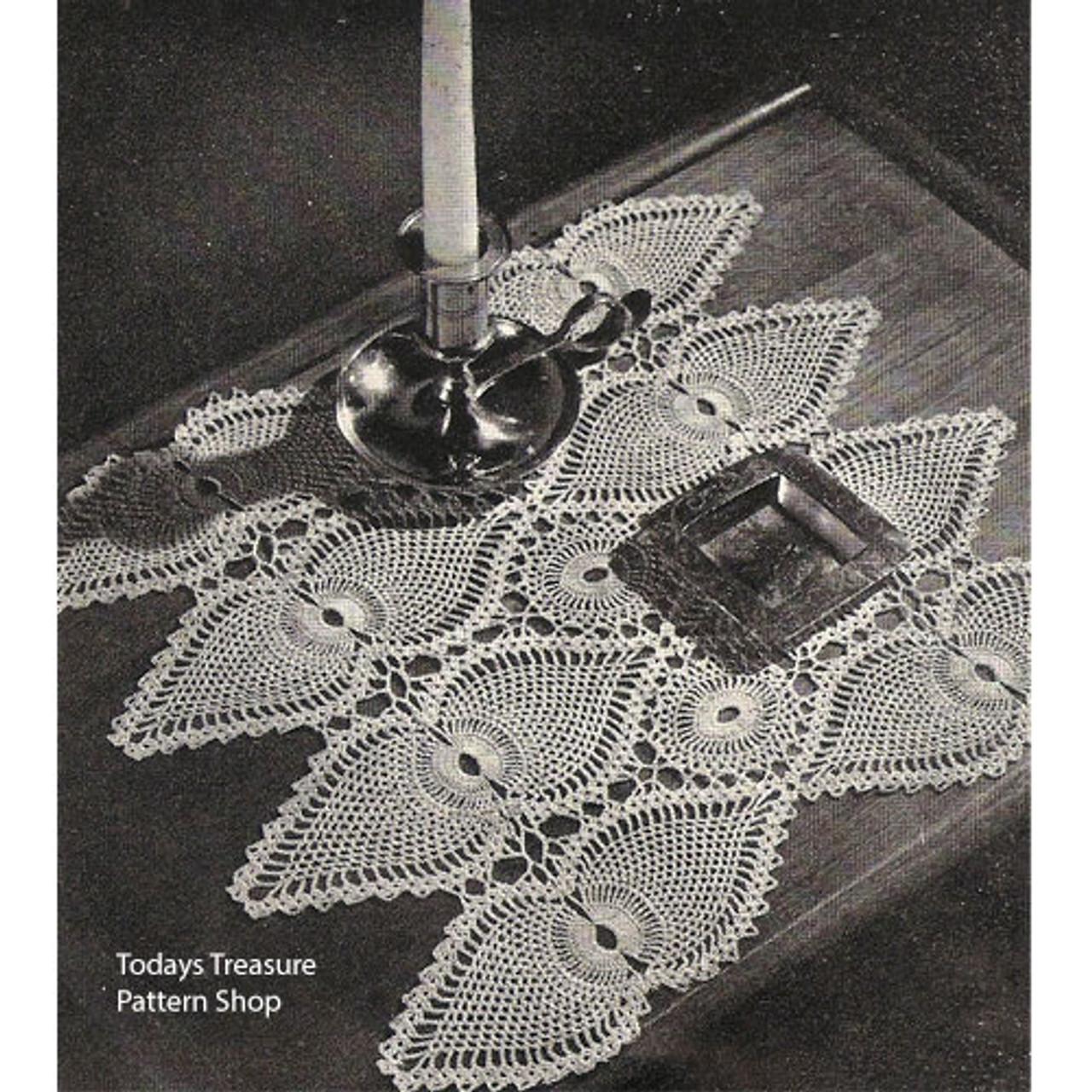 Vintage Pineapple Crocheted Scarf Pattern