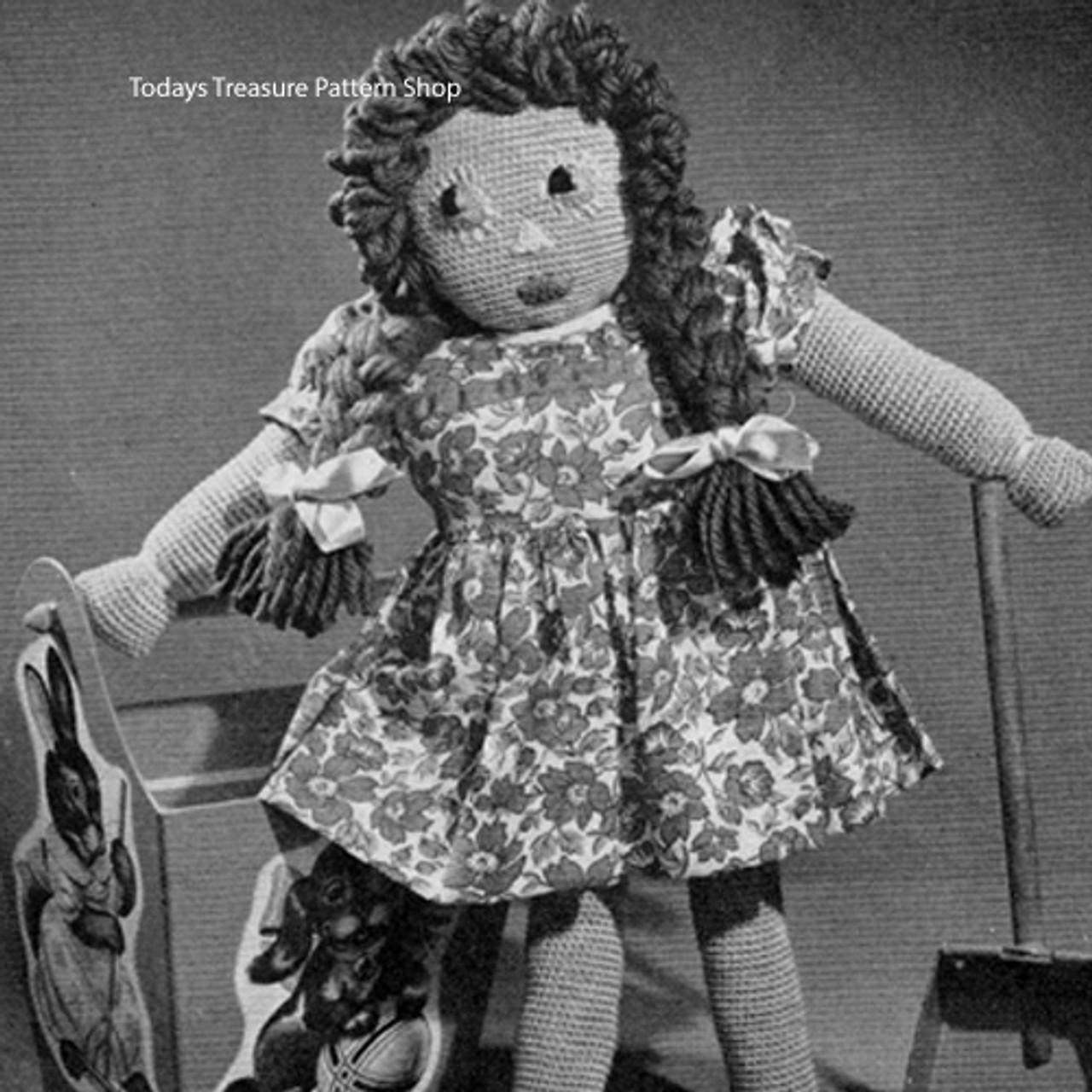 Vintage Tall Susan Crochet Doll Pattern