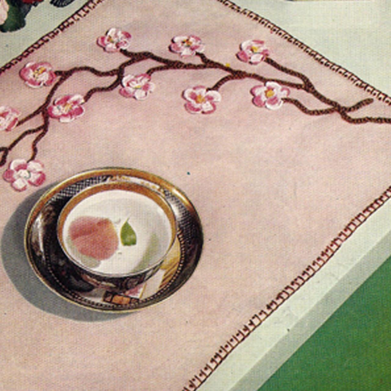Crochet Apple Blossoms Place Mats Pattern