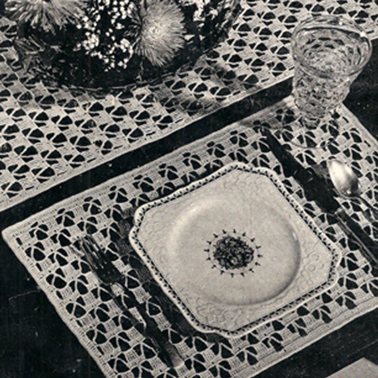 Vintage Crochet Place Mats Pattern