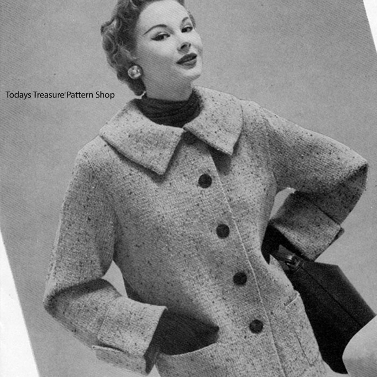 Knee Length Knitted Box Coat Pattern
