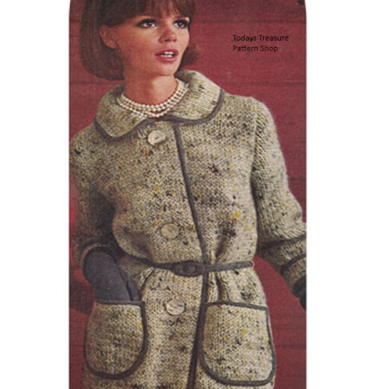 Vintage Tweed Coat Knitting Pattern