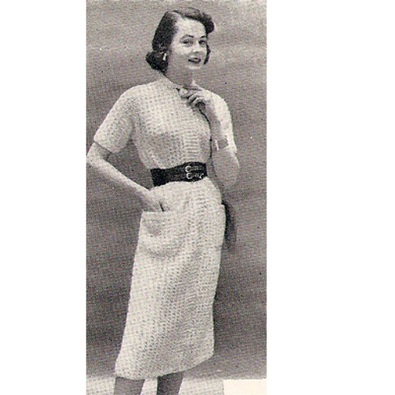 Short Sleeve Knitted Dress Pattern