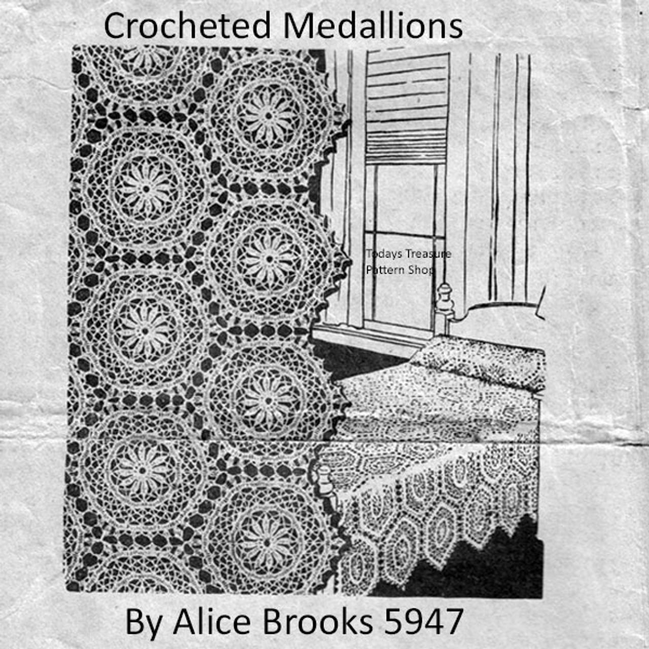 Alice Brooks 5947, Crochet Medallion Pattern