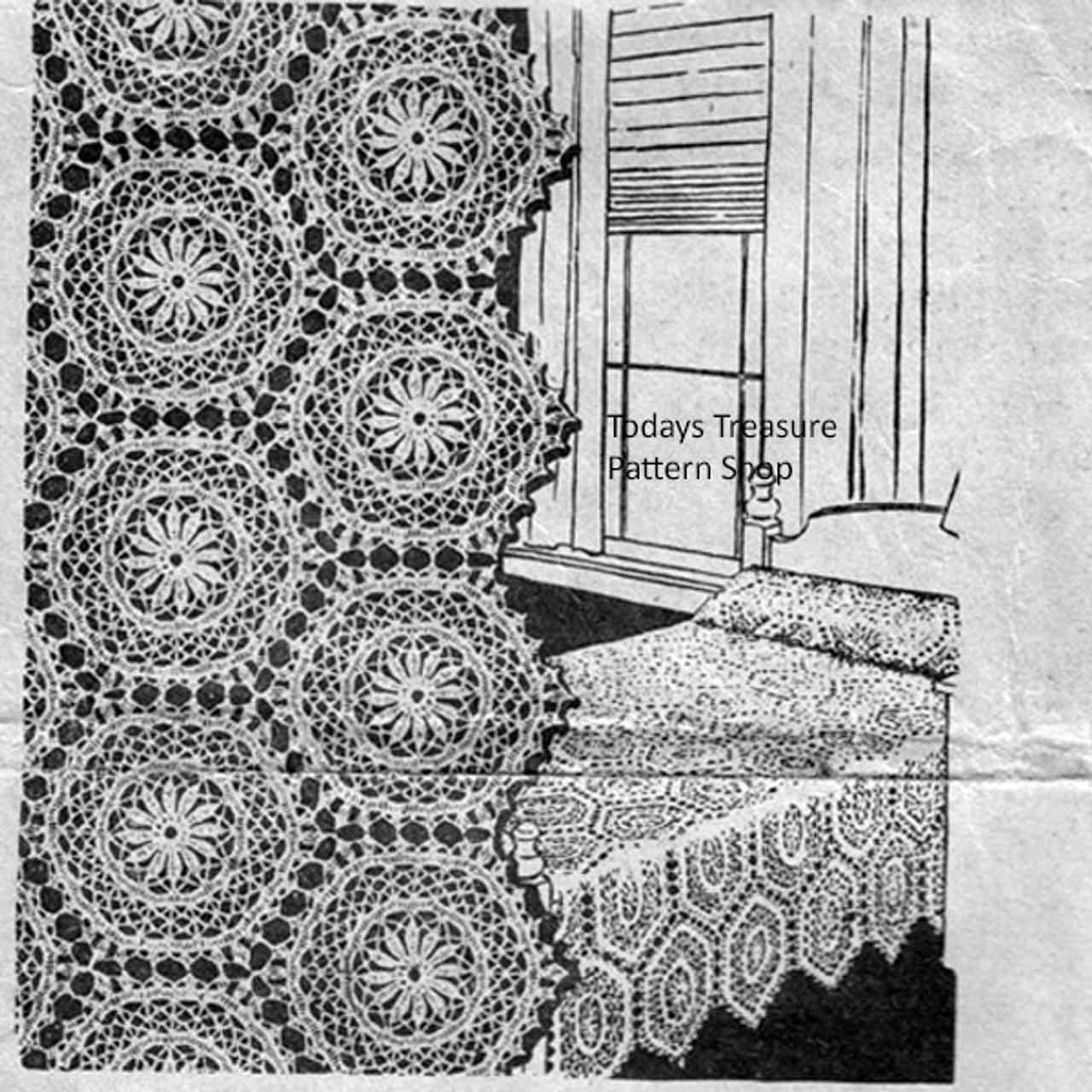 Vintage Hexagon Crocheted Medallion Pattern