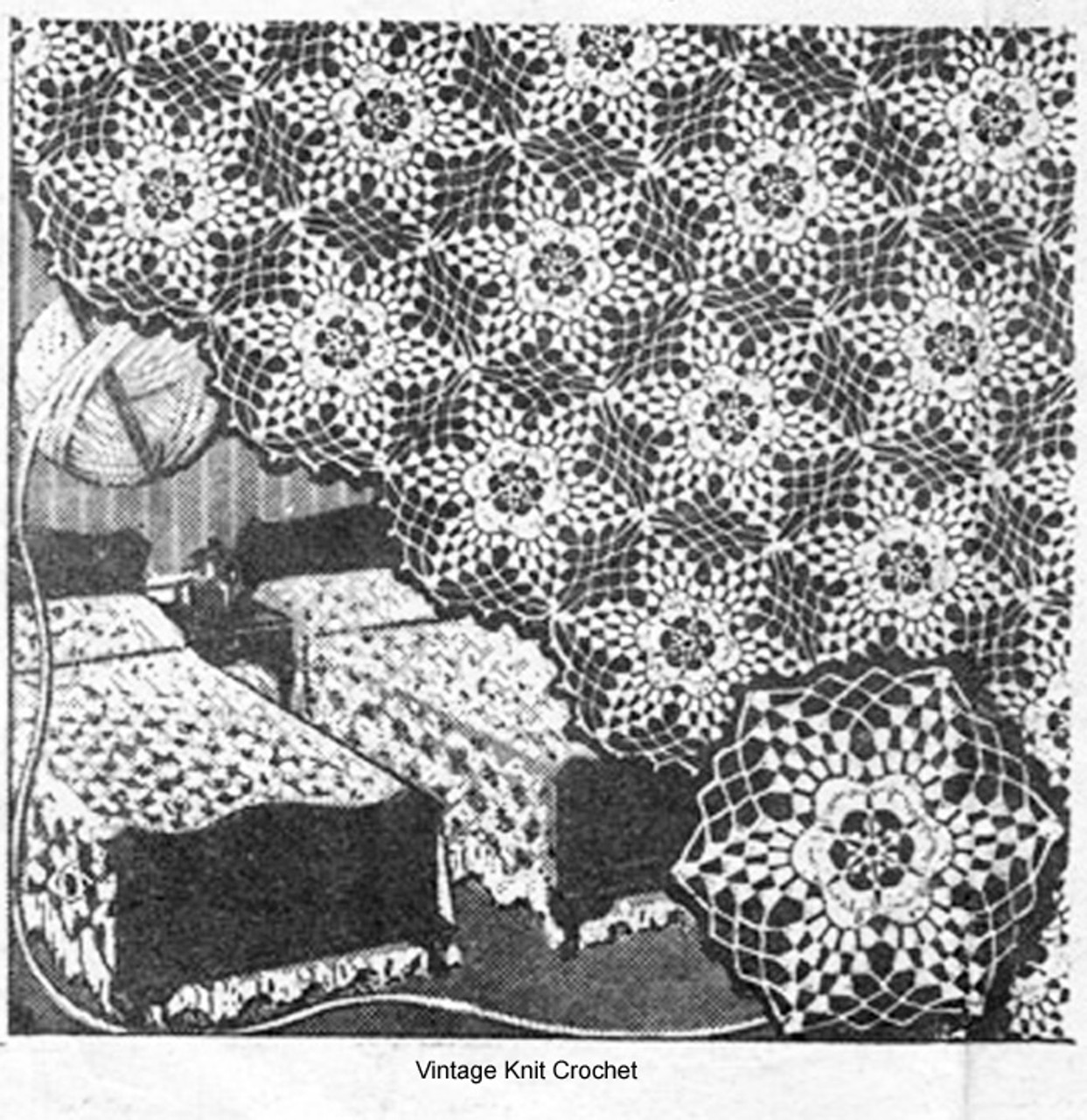 Morning Star Medallion Bedspread Pattern, Mail Order 647