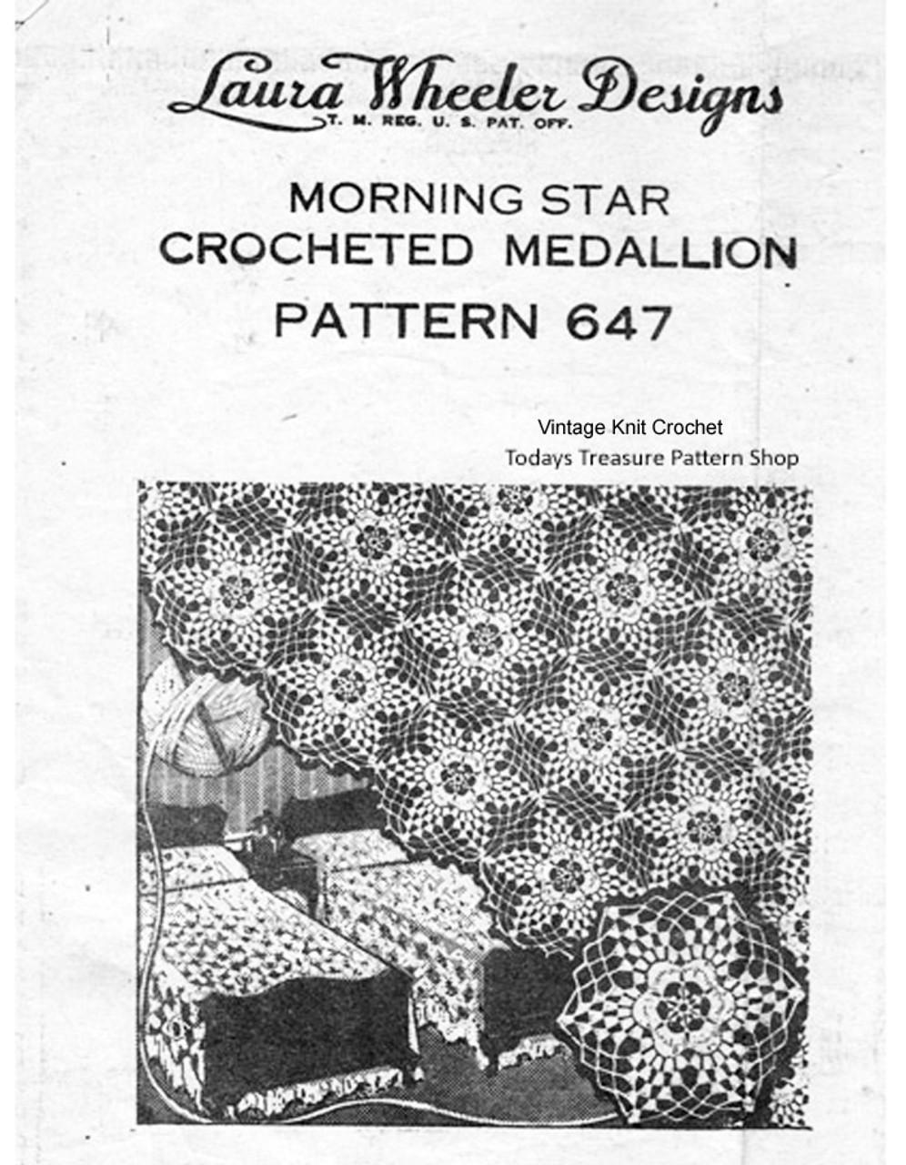 Morning Star Crochet Bedspread Pattern, Mail Order 647